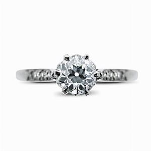 Old Cut Diamond Vintage Engagement Ring 0.42ct